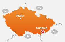 Mapa - Westpra Hodonín